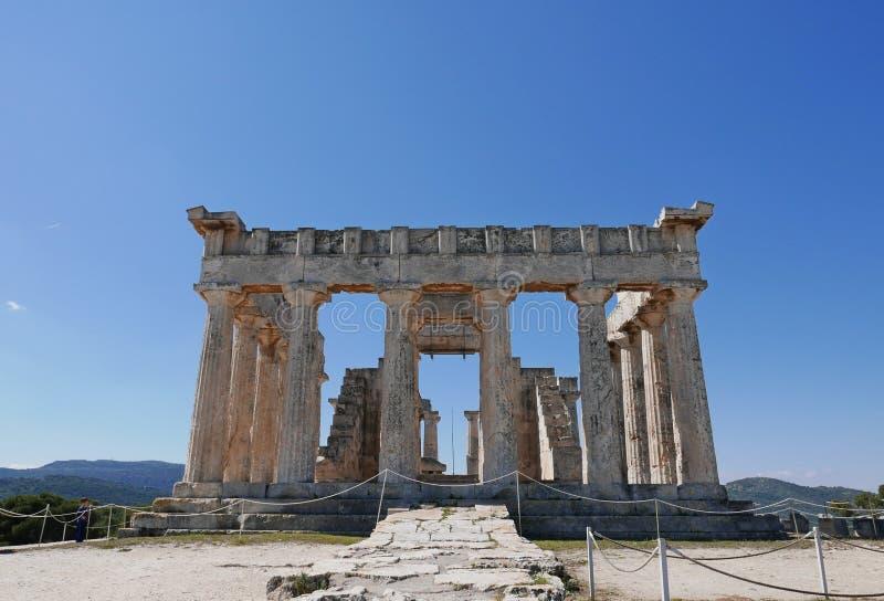 Ναός Aphaea στοκ εικόνες