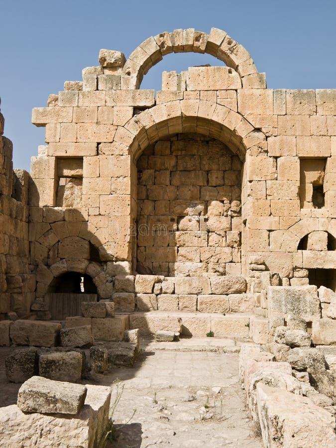 ναός artemis jerash στοκ εικόνα