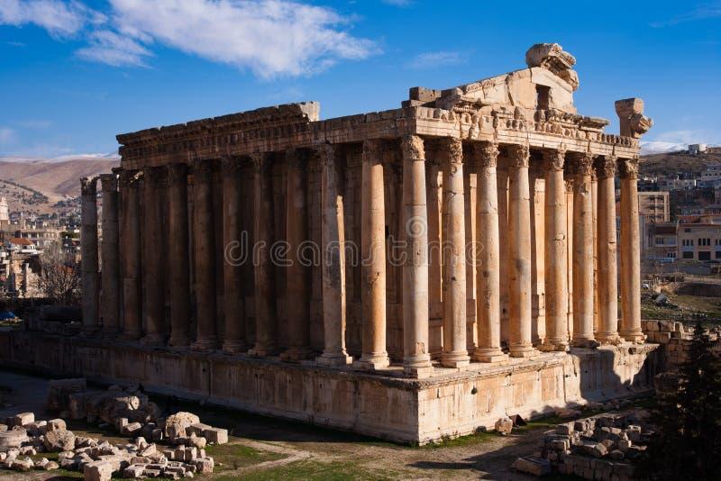 ναός bacchus στοκ εικόνα