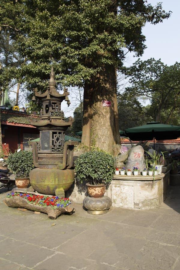 Ναός Baoguo στο emei υποστηριγμάτων, Κίνα στοκ φωτογραφία με δικαίωμα ελεύθερης χρήσης