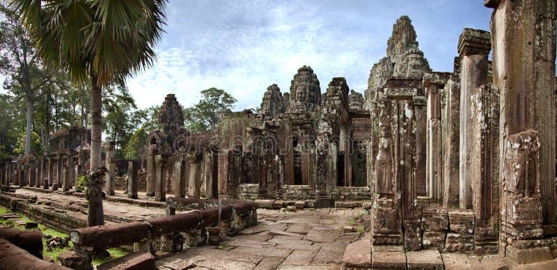 Ναός Bayon, ύφασμα του Σιάμ Watt Angkor Καμπότζη στοκ εικόνα