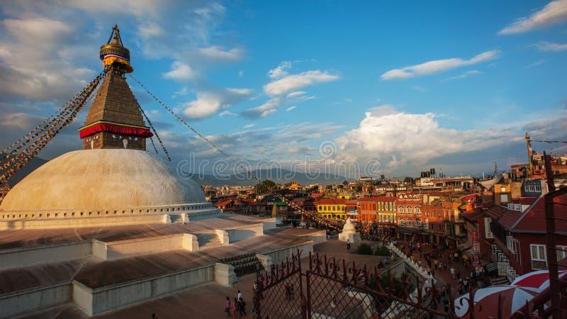 Ναός Boudhanath, Κατμαντού, Νεπάλ στοκ φωτογραφίες