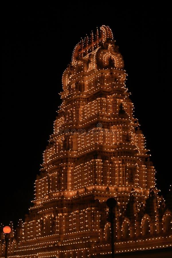 Ναός Chamundeshwari τη νύχτα στοκ φωτογραφίες με δικαίωμα ελεύθερης χρήσης