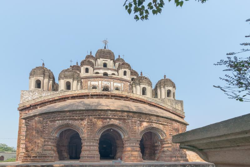 Ναός Chandra Krishna Kalna, δυτική Βεγγάλη, Ινδία στοκ φωτογραφία με δικαίωμα ελεύθερης χρήσης