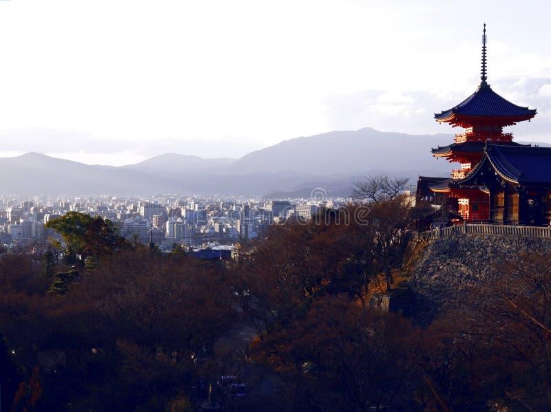 Ναός Dera Kiyomizu στο Κιότο Ιαπωνία στοκ εικόνα