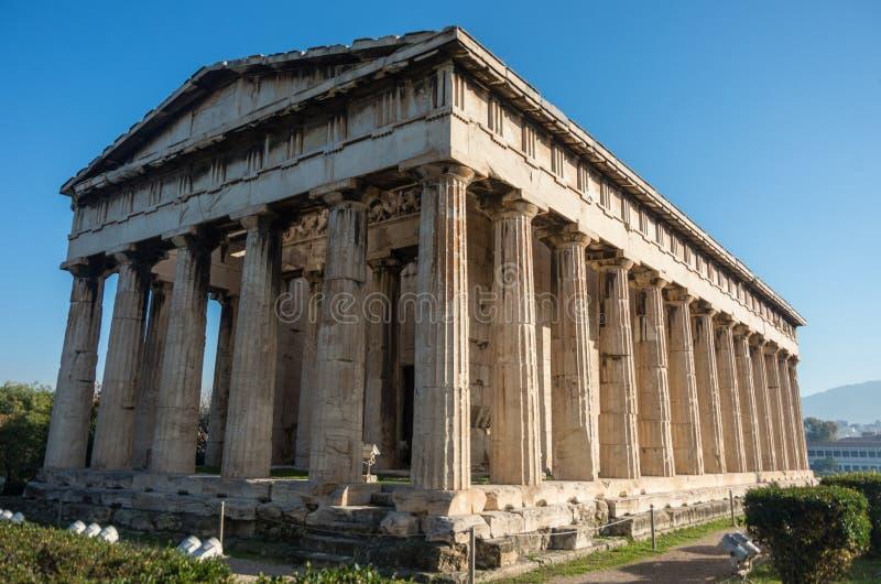 Ναός Hephaestus στην αρχαία αγορά, Αθήνα στοκ φωτογραφία με δικαίωμα ελεύθερης χρήσης