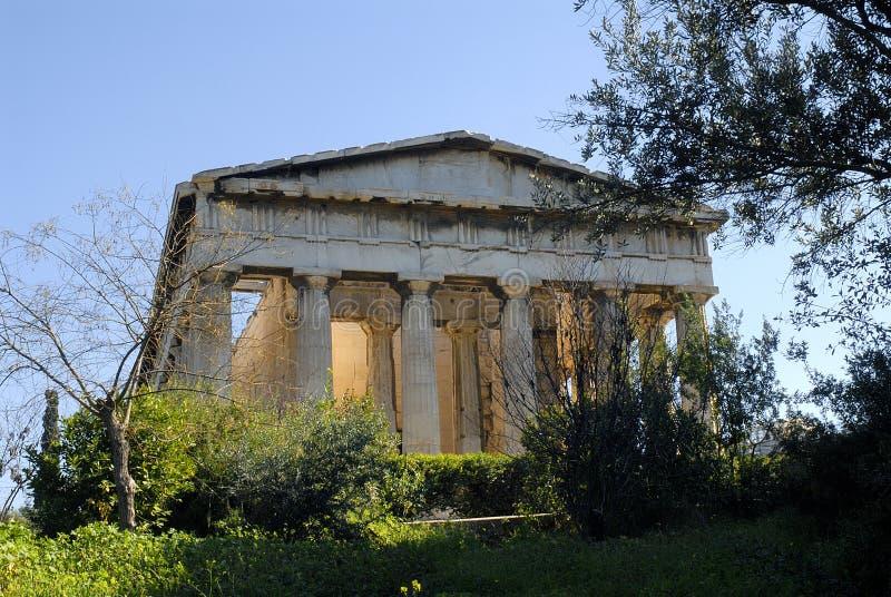 ναός hephaestus της Αθήνας στοκ φωτογραφία με δικαίωμα ελεύθερης χρήσης