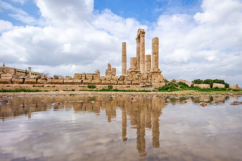 Ναός Hercules στην ακρόπολη του Αμμάν στην Ιορδανία στοκ φωτογραφία
