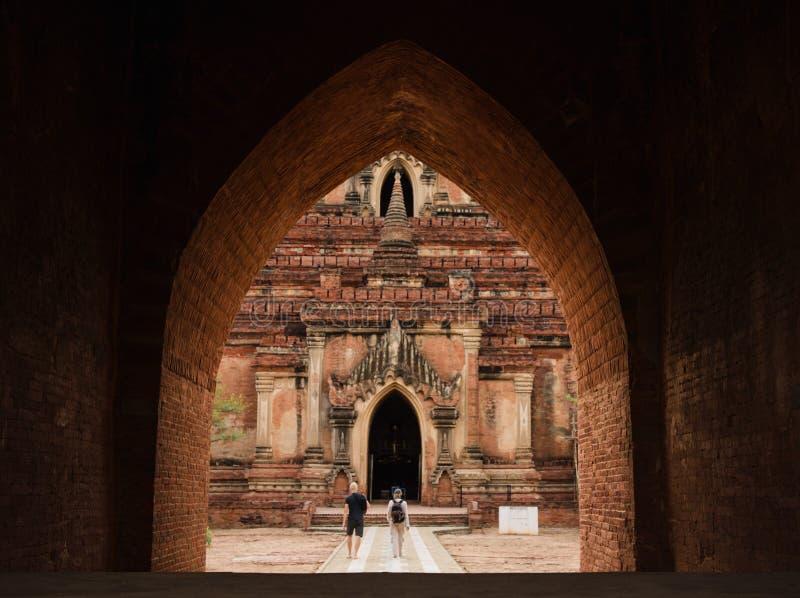 Ναός Htilominlo σε Bagan, το Μιανμάρ στοκ φωτογραφία με δικαίωμα ελεύθερης χρήσης