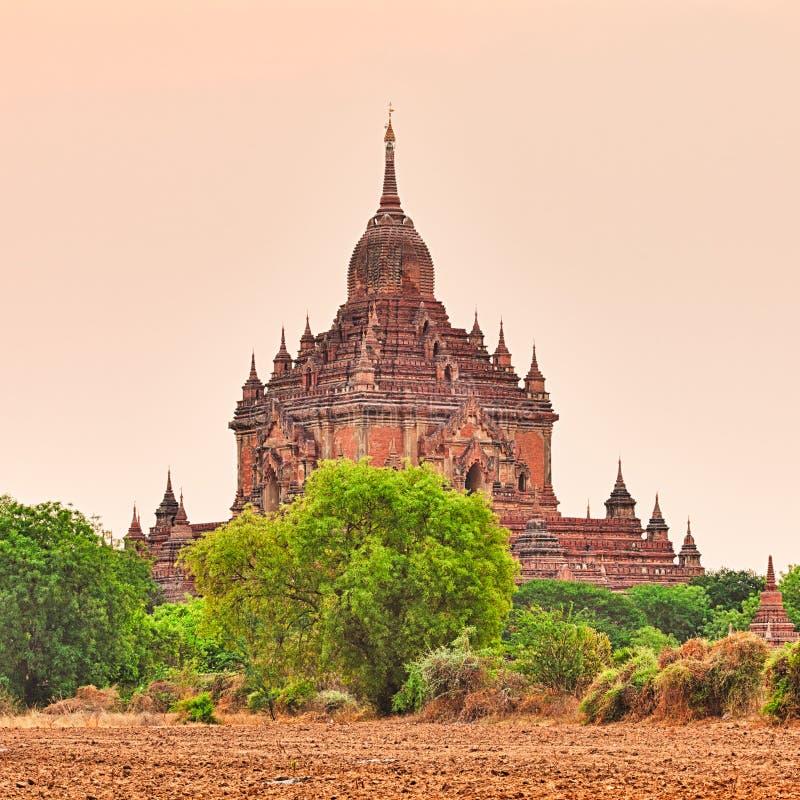 Ναός Htilominlo σε Bagan στοκ φωτογραφία με δικαίωμα ελεύθερης χρήσης