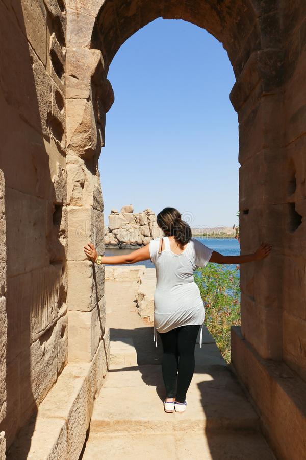 Ναός isis Aswan, Αίγυπτος στοκ φωτογραφίες με δικαίωμα ελεύθερης χρήσης