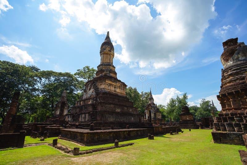 Ναός Jedi Jed Teaw Wat στην επαρχία Sukhothai, Ταϊλάνδη στοκ εικόνες με δικαίωμα ελεύθερης χρήσης
