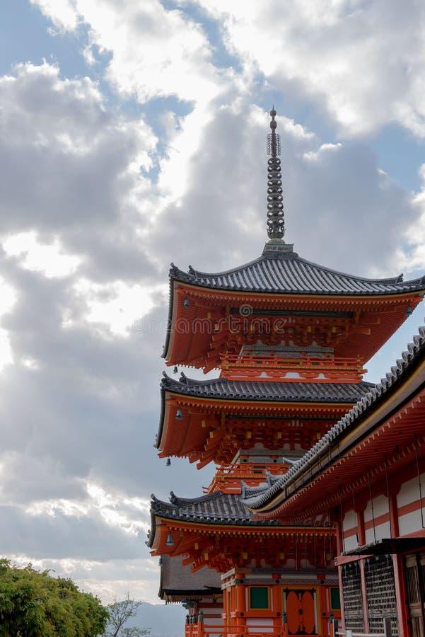 Ναός Kiyomizu στοκ φωτογραφία με δικαίωμα ελεύθερης χρήσης