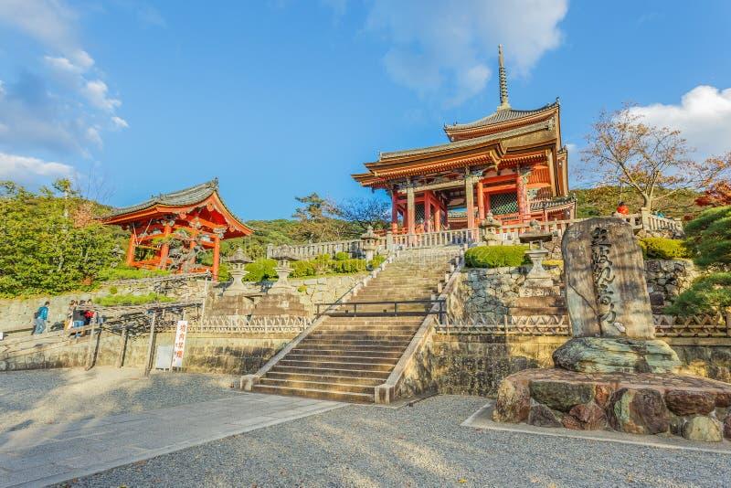 Ναός kiyomizu-Dera στο Κιότο στοκ εικόνα με δικαίωμα ελεύθερης χρήσης