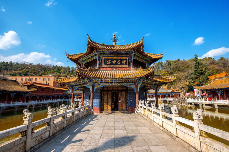 Ναός Kunming Yuantong Yunnan στοκ φωτογραφίες