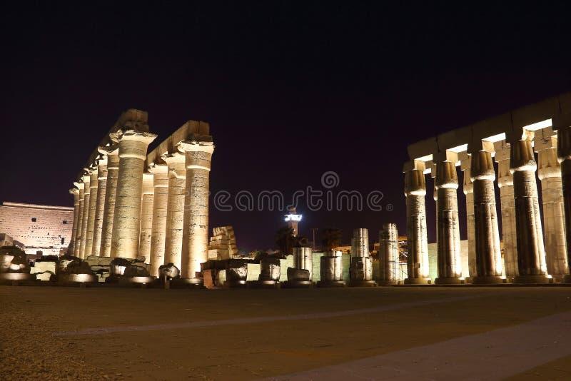 Ναός Luxor τη νύχτα στοκ εικόνες