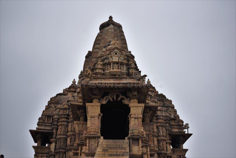 Ναός Mahadeva Kandariya, Khajuraho, Ινδία στοκ εικόνες