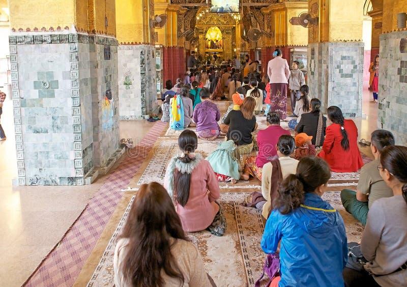 Ναός Mandalay, το Μιανμάρ του Βούδα Mahamuni στοκ φωτογραφία με δικαίωμα ελεύθερης χρήσης