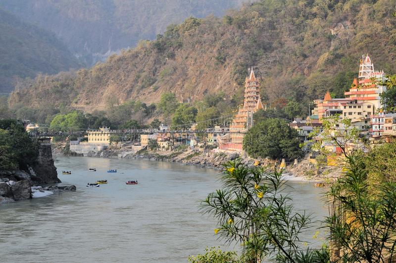 Ναός Manzil Shiva Tera σε Rishikesh, Ινδία στοκ εικόνες με δικαίωμα ελεύθερης χρήσης