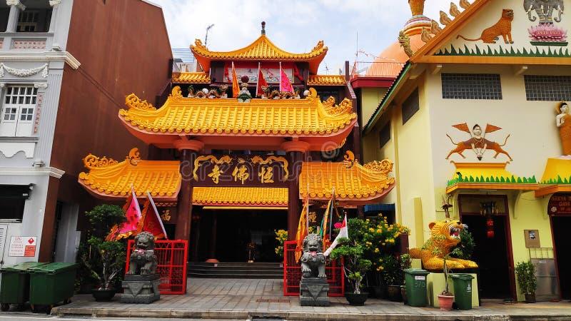 Ναός Muni Βούδας Gaya Sakya την σε λίγη Ινδία στη Σιγκαπούρη στοκ φωτογραφίες