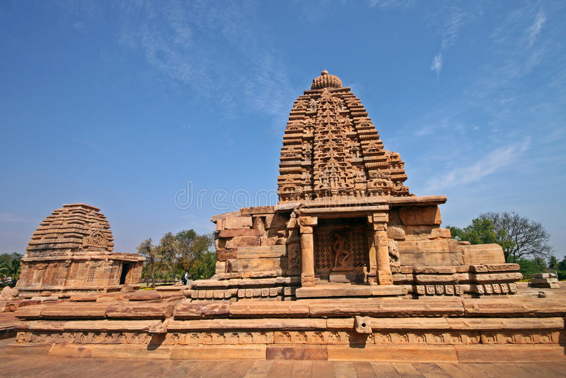Ναός Pattadakal, μια περιοχή κληρονομιάς της ΟΥΝΕΣΚΟ στοκ εικόνα με δικαίωμα ελεύθερης χρήσης