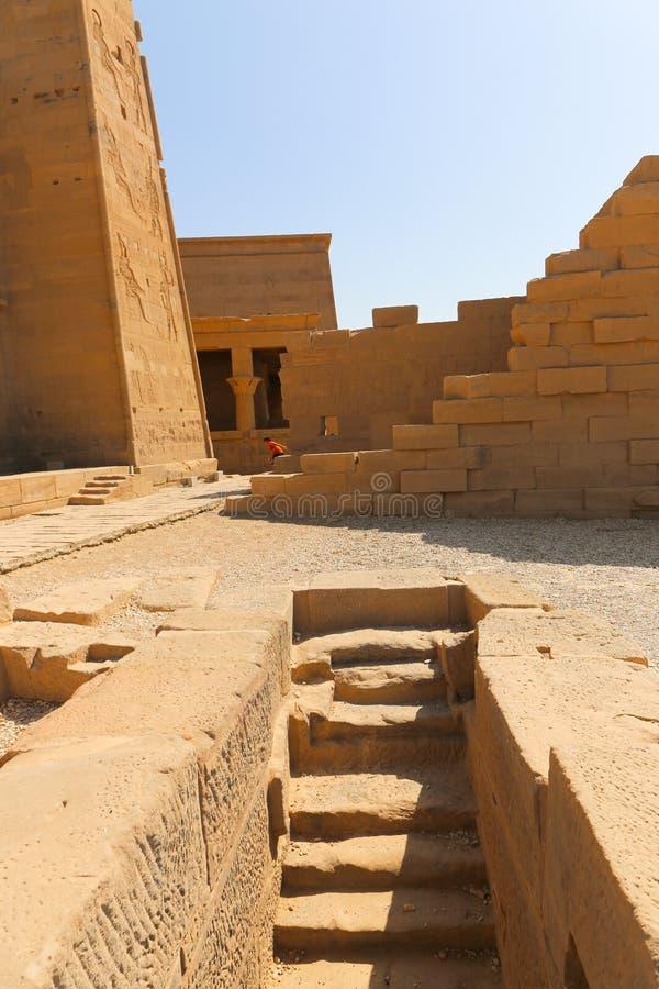 Ναός Philae Isis - Aswan, Αίγυπτος στοκ φωτογραφία