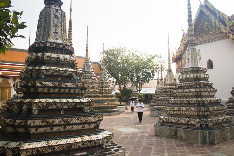 Ναός Pho Wat στη Μπανγκόκ, Ταϊλάνδη στοκ φωτογραφία με δικαίωμα ελεύθερης χρήσης