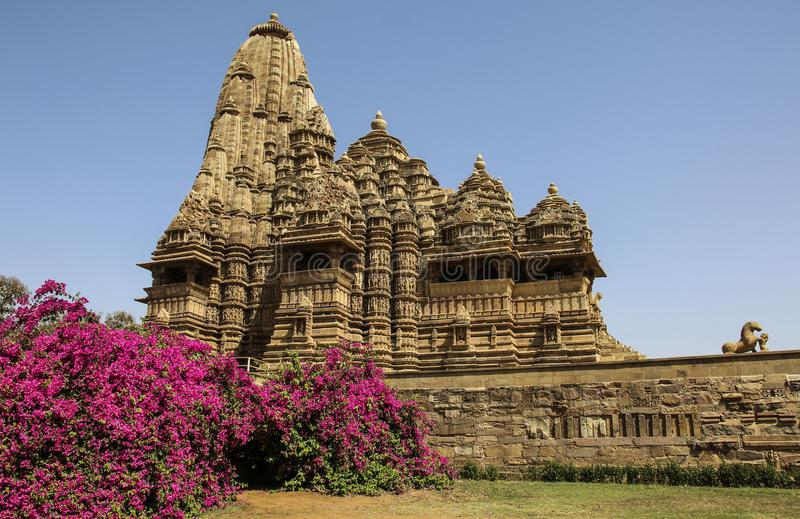 Ναός Pradesh Madhya, δυτικοί ναοί Khajuraho, Ινδία στοκ φωτογραφία με δικαίωμα ελεύθερης χρήσης