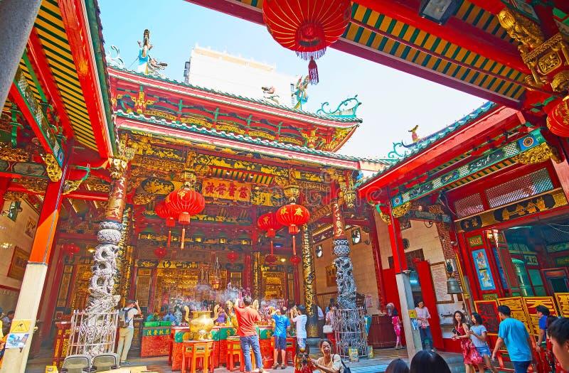 Ναός Qingfu από το δικαστήριο, Yangon, το Μιανμάρ στοκ εικόνα
