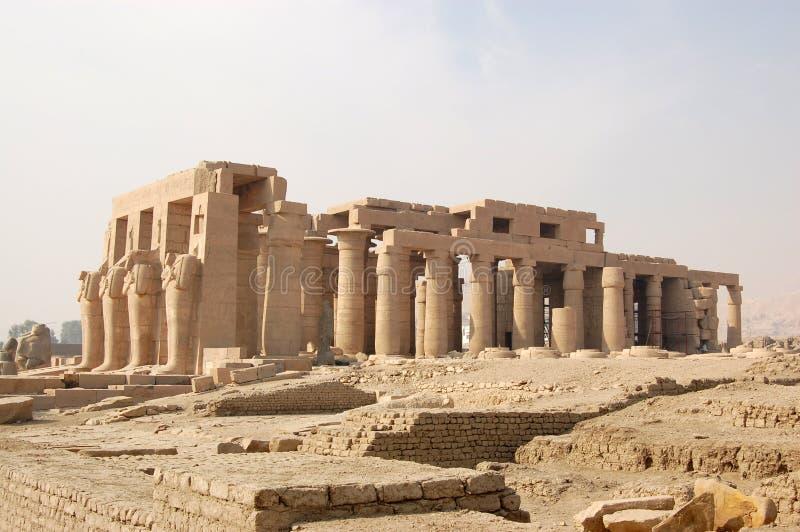 ναός ramasseum luxor στοκ εικόνα