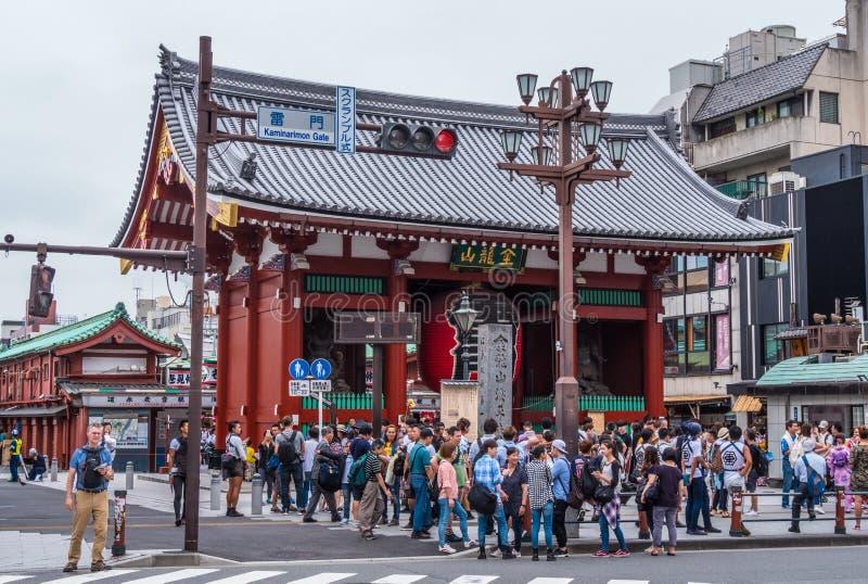 Ναός senso-Ji στο Τόκιο - διάσημο Sensoji σε Asakusa - το ΤΟΚΙΟ, ΙΑΠΩΝΙΑ - 12 Ιουνίου 2018 στοκ εικόνες