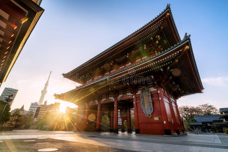 Ναός Sensoji-sensoji-ji σε Asakusa, Τόκιο, Ιαπωνία στοκ φωτογραφία με δικαίωμα ελεύθερης χρήσης
