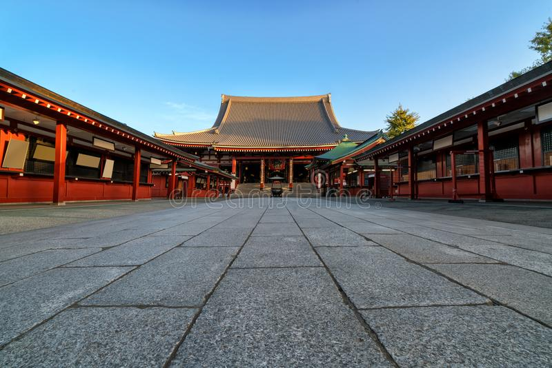 Ναός Sensoji-sensoji-ji σε Asakusa, Τόκιο, Ιαπωνία στοκ εικόνα με δικαίωμα ελεύθερης χρήσης