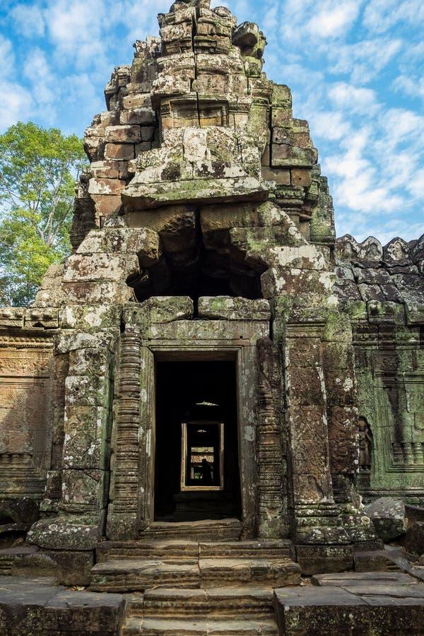 Ναός SOM TA σε Angkor Wat σύνθετο, Καμπότζη, Ασία στοκ εικόνα