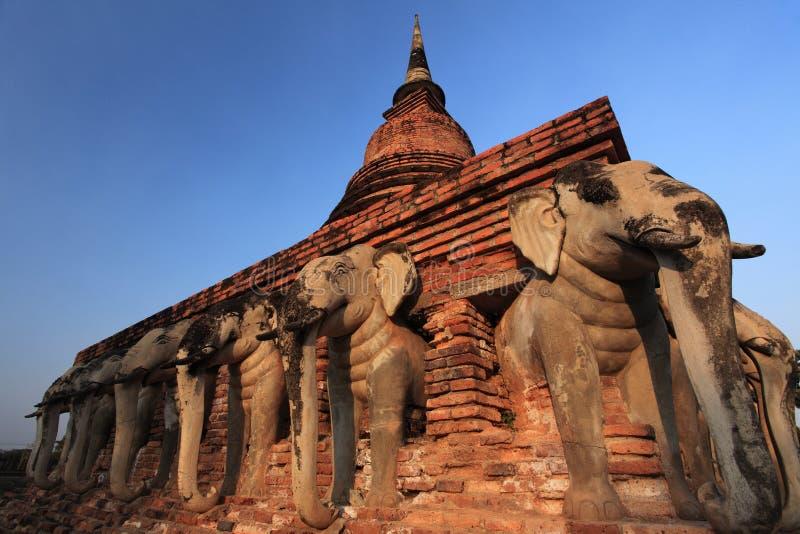 ναός sukhothai καταστροφών thailan στοκ εικόνες