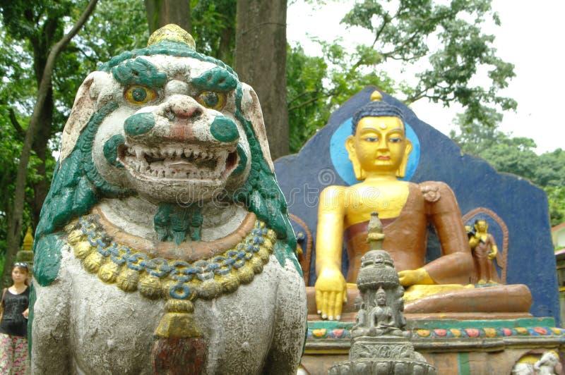 Ναός Swayambunath στο Κατμαντού στοκ φωτογραφία