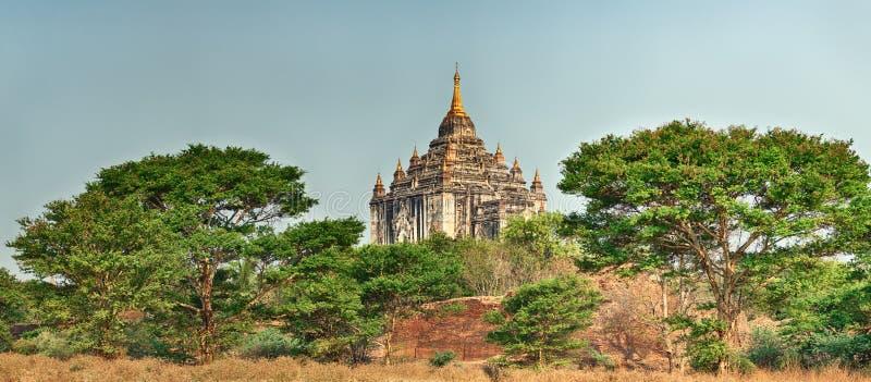 Ναός Thatbyinnyu σε Bagan πανόραμα στοκ φωτογραφία με δικαίωμα ελεύθερης χρήσης