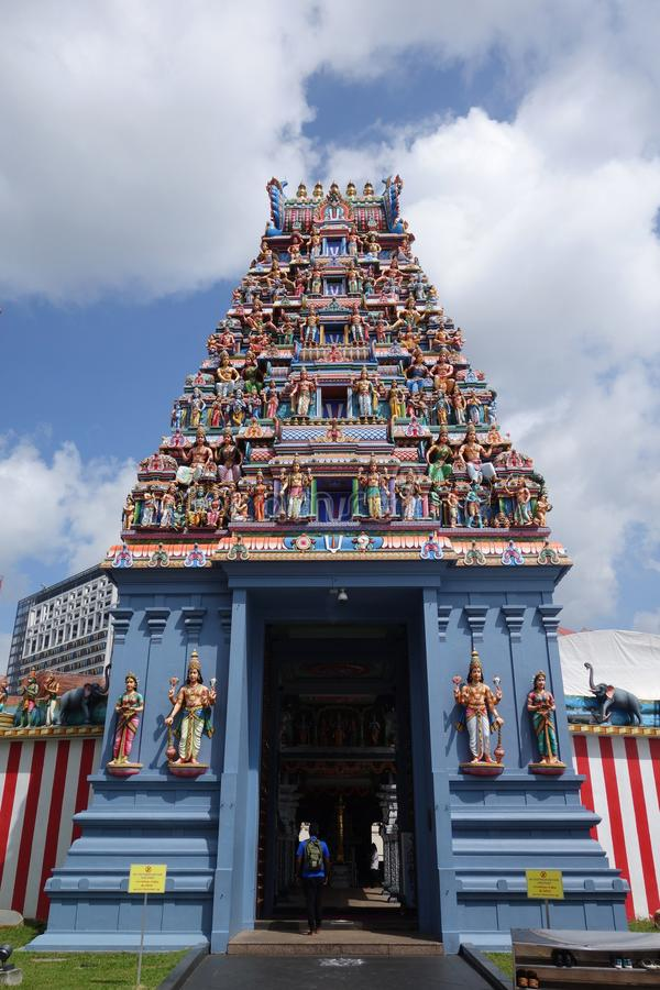Ναός Veerama Kaliamman Sri την σε λίγη Ινδία στη Σιγκαπούρη στοκ φωτογραφία με δικαίωμα ελεύθερης χρήσης