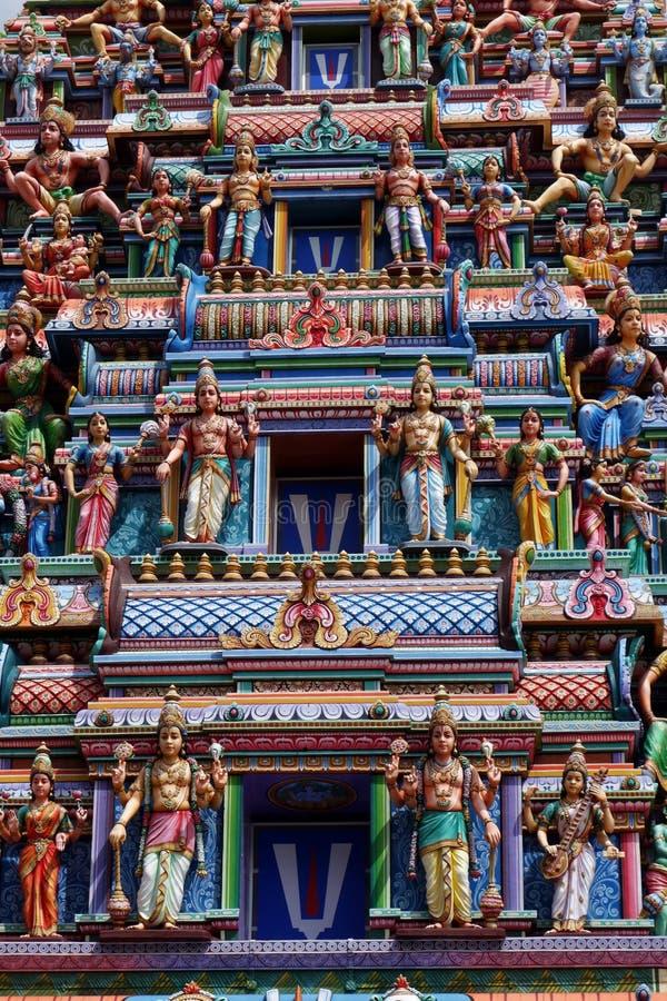 Ναός Veerama Kaliamman Sri την σε λίγη Ινδία στη Σιγκαπούρη στοκ εικόνες