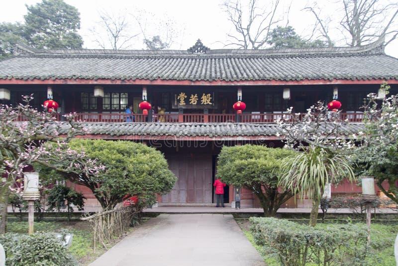 Ναός Wannian στο emei υποστηριγμάτων, Κίνα στοκ εικόνες
