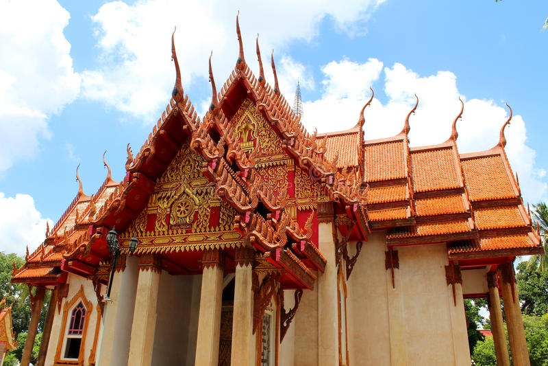 Ναός Wat στην Ταϊλάνδη στοκ εικόνες με δικαίωμα ελεύθερης χρήσης