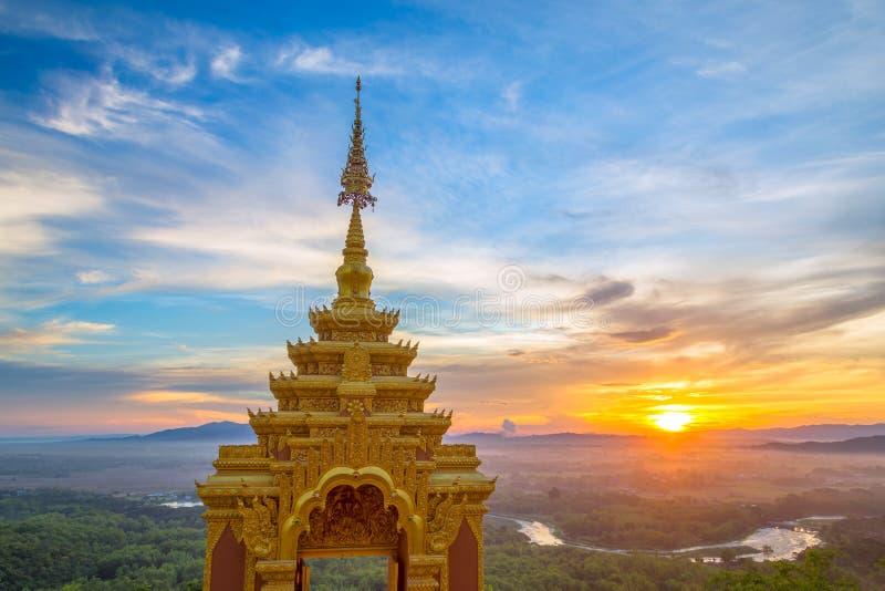 Ναός, Wat Pra που Doi Pra Chan Mae Tha στοκ φωτογραφία με δικαίωμα ελεύθερης χρήσης