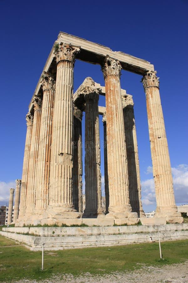 Ναός Zeus, γωνία στοκ φωτογραφία με δικαίωμα ελεύθερης χρήσης