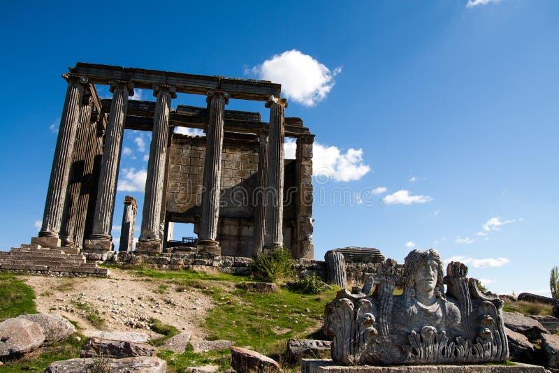 Ναός Zeus, Aizonai, Kutahya, Τουρκία στοκ φωτογραφία