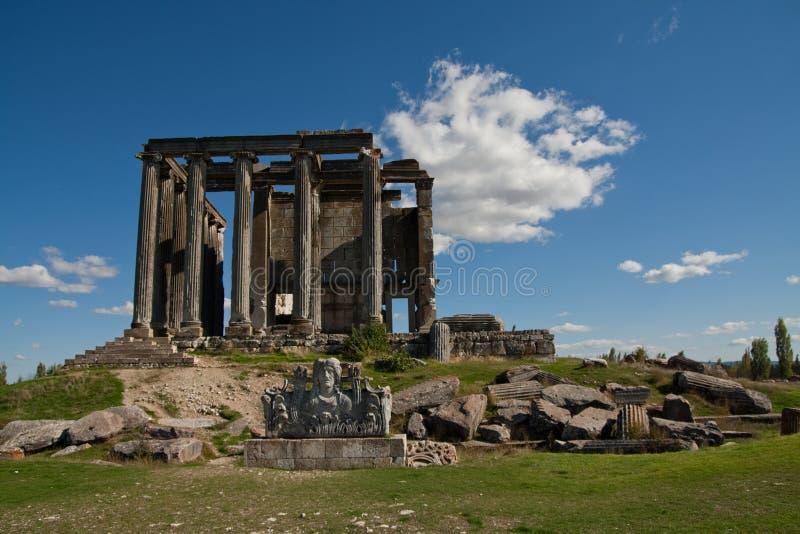 Ναός Zeus, Aizonai, Kutahya, Τουρκία στοκ εικόνα
