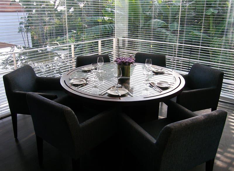 να δειπνήσει επίσημος πίνακας τιμής τών παραμέτρων δωματίων πολυτέλειας στοκ εικόνες