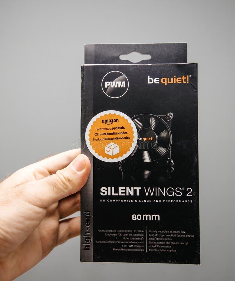 Να είστε ήρεμα σιωπηλά φτερά 2 PWM ανεμιστήρας υπολογιστών 80 χιλ. στοκ εικόνες