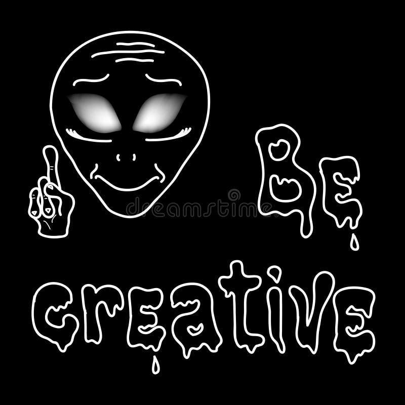 Να είστε δημιουργικός με τον αλλοδαπό διανυσματική απεικόνιση