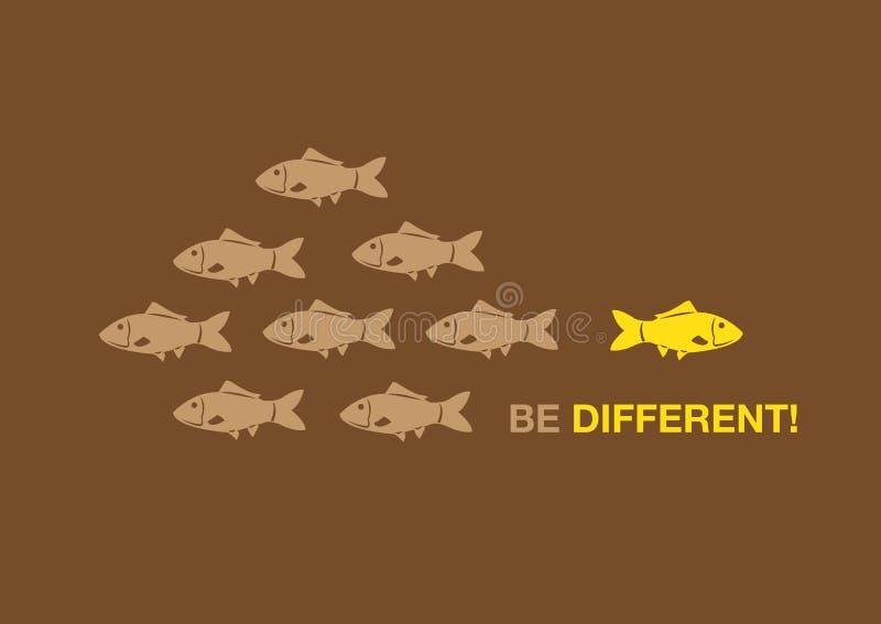 Να είστε διαφορετική δημιουργική διανυσματική απεικόνιση έννοιας απεικόνιση αποθεμάτων