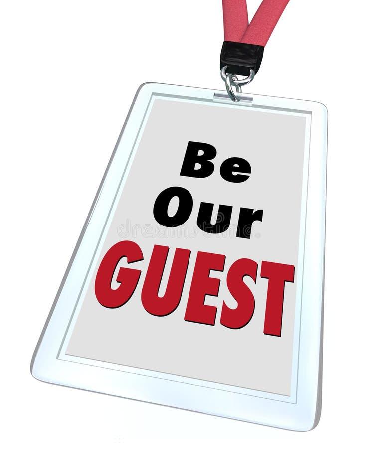 Να είστε ο ευπρόσδεκτος επισκέπτης κορδονιών διακριτικών φιλοξενουμένων μας ελεύθερη απεικόνιση δικαιώματος